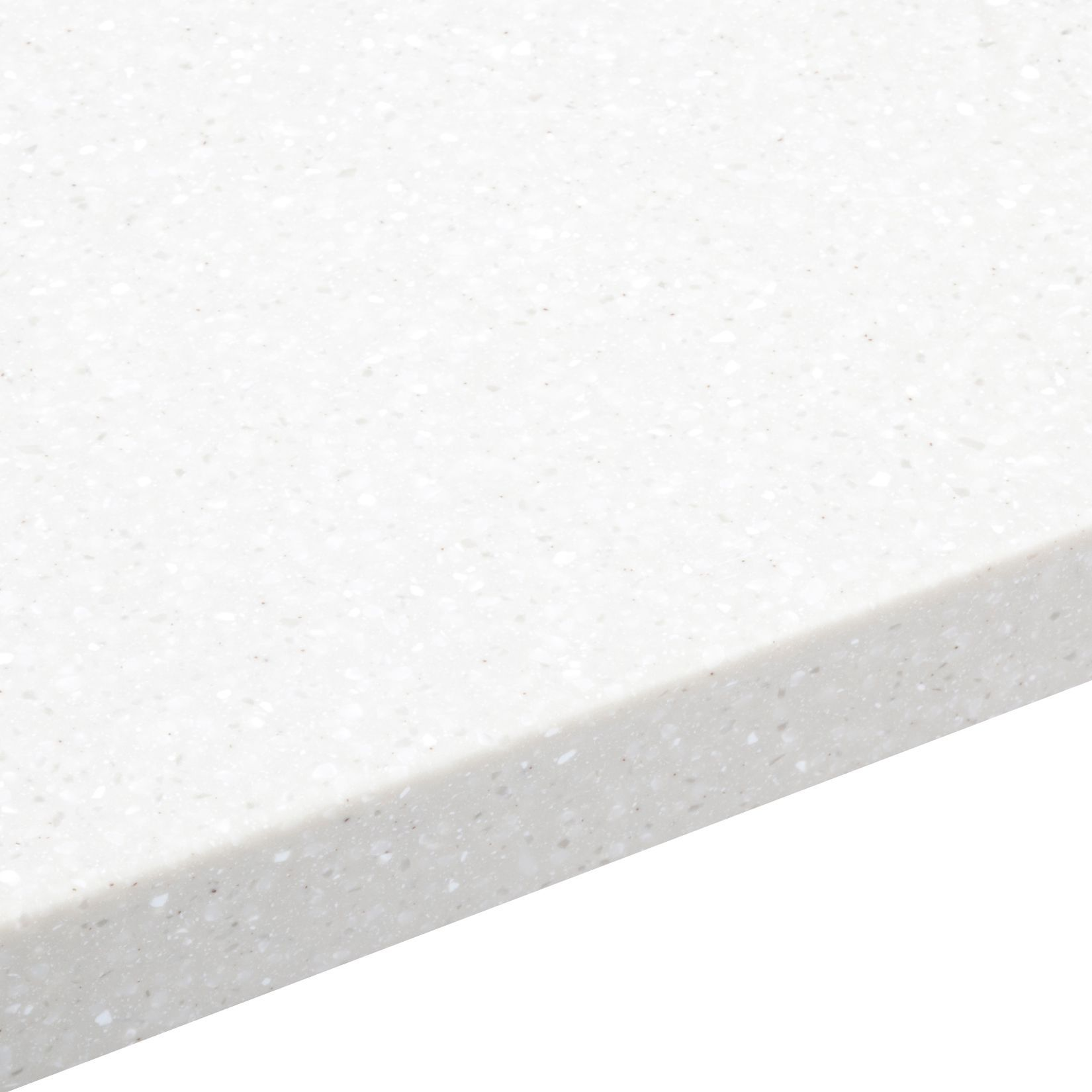 34mm Nordic Earthstone White Round Edge Worktop (L)1800mm (D)605mm ...