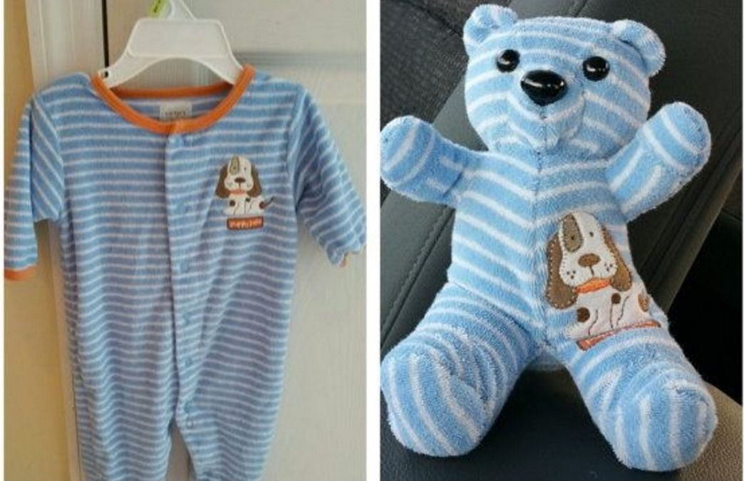 Simple Keepsake Ideas Made With Baby Old Clothes Old