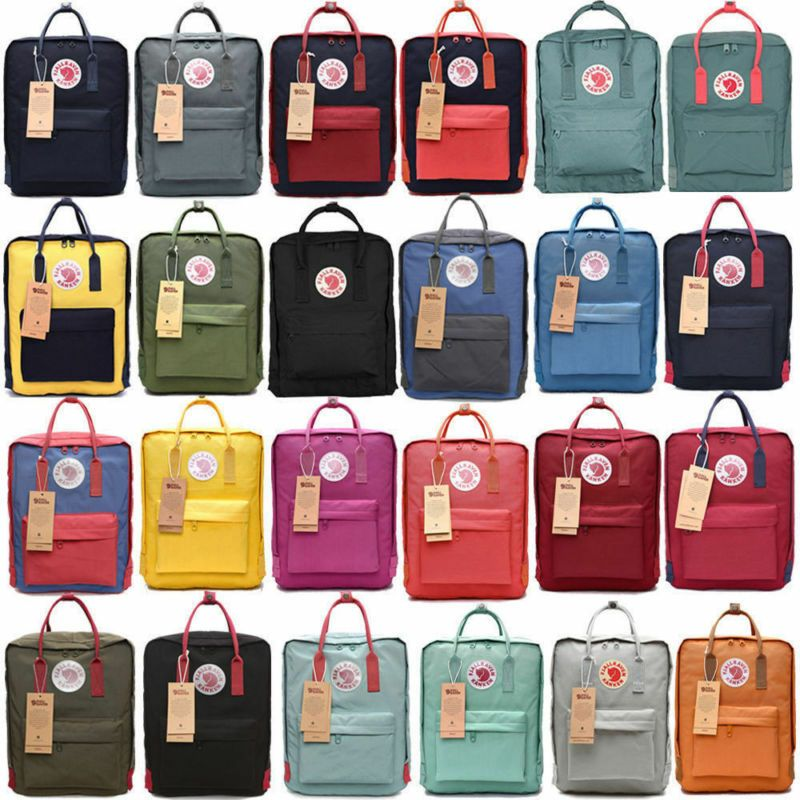 Fjallraven Kanken Sport Backpack Travel Shoulder Bag Classic Handbag 20L//16L