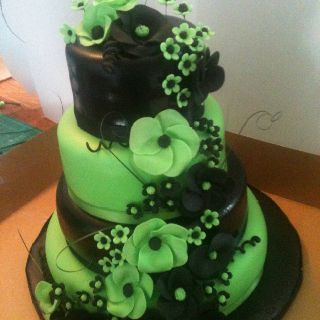 Lime Green Birthday Cake Green Birthday Cakes Cute Cakes Cake Art
