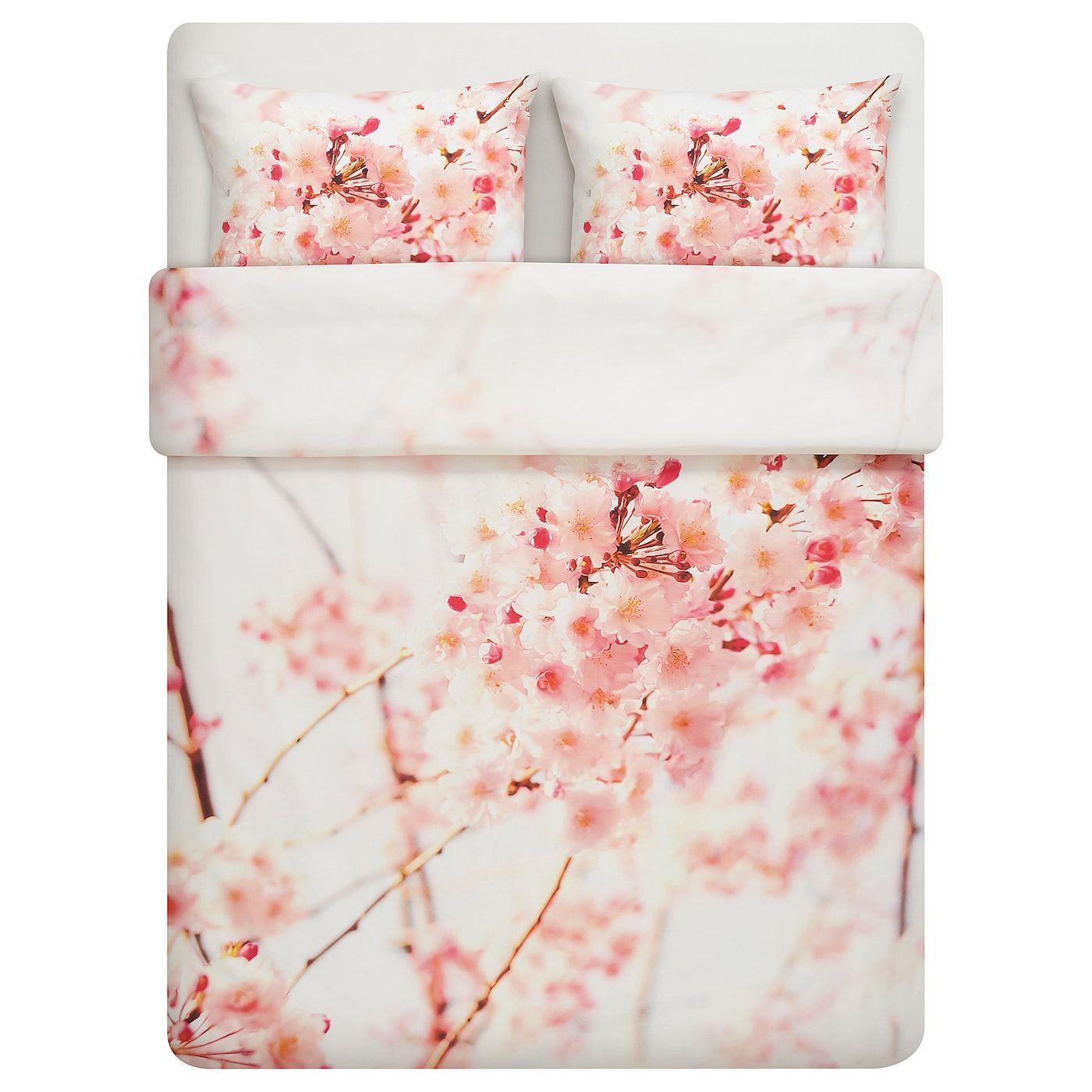 Federe Cuscini 50 X 80.Perukbuske Copripiumino E 2 Federe Fiore Bianco Rosa 240x220