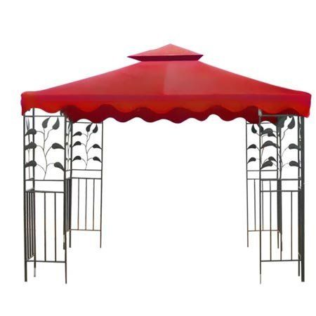 Red 2 Tier Patio Sun Shade 10x10 Ft Garden Canopy Gazebo Replacement Top . $69.99. Reinforced Corners to Stand Years of Use; Zippered Ventilated Top with Mosquito Netting between Top and Lower Tier; PA Coating for Effective Harmful UV Blocking and Waterproof Performance; Grommets to Ensure Proper Water Drainage; Velcro Attaching Tabs for Conveniently Fixing onto the Frames. Brand New 10'x10' Dual-tier Replacement Canopy Top! Perfect to Make Your Gazebo Shiny a...