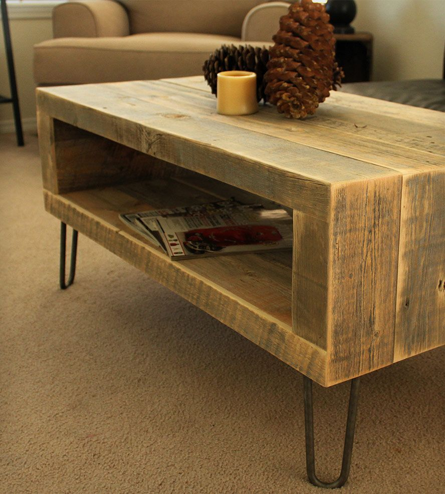 Small Reclaimed Wood Media Console - Small Reclaimed Wood Media Console Wood Company, Consoles And Woods