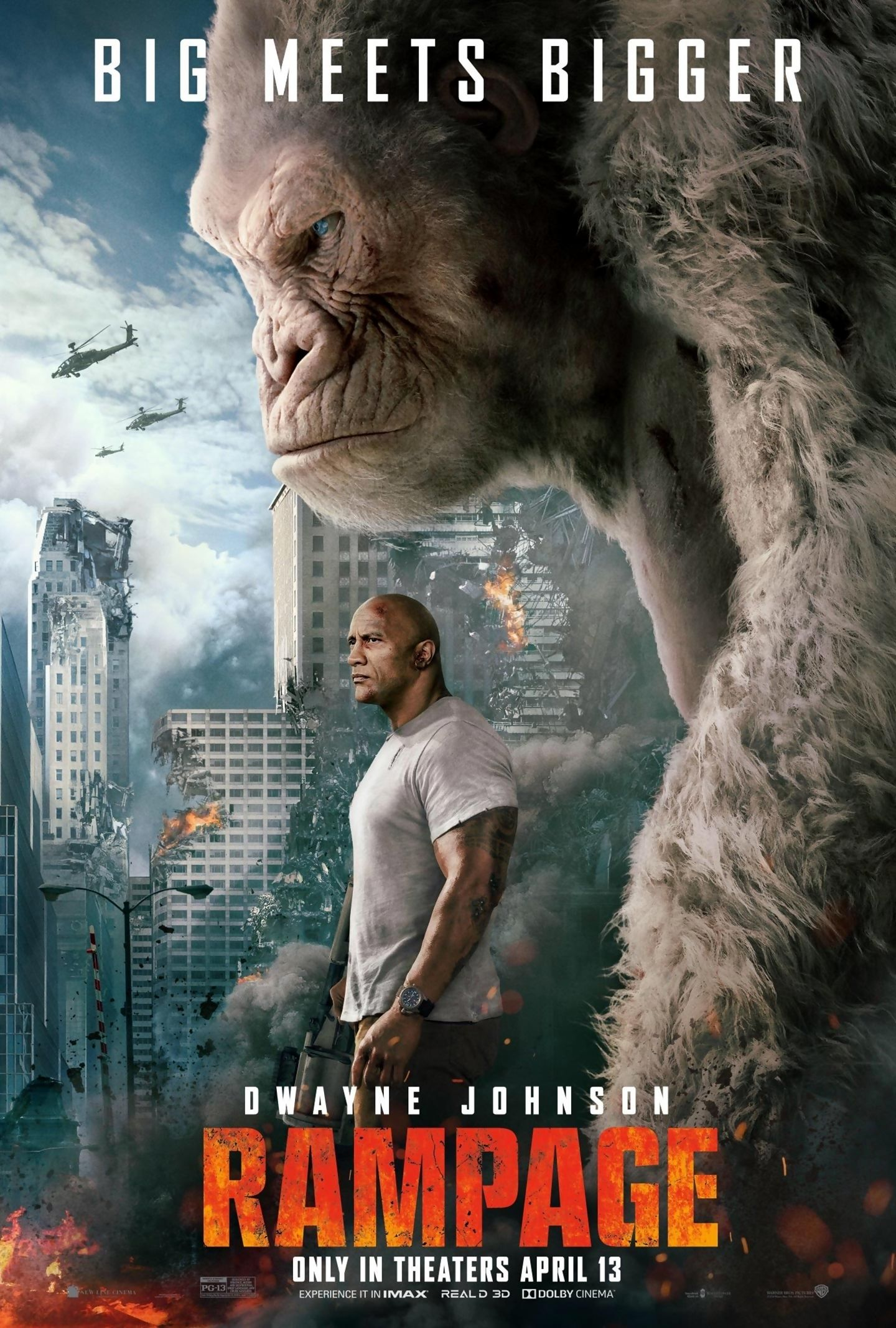 Rampage is a 2018 American science fiction monster film loosely based on  the video game series of the same name by Midway Games.