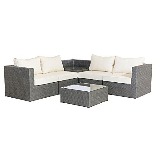Mmt Rattan Grey Garden Furniture L Shaped Corner Sofa Grey Garden Furniture Patio Furniture Pillows Rattan Furniture Set