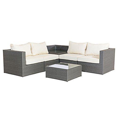 mmt rattan grey garden furniture l shaped corner sofa