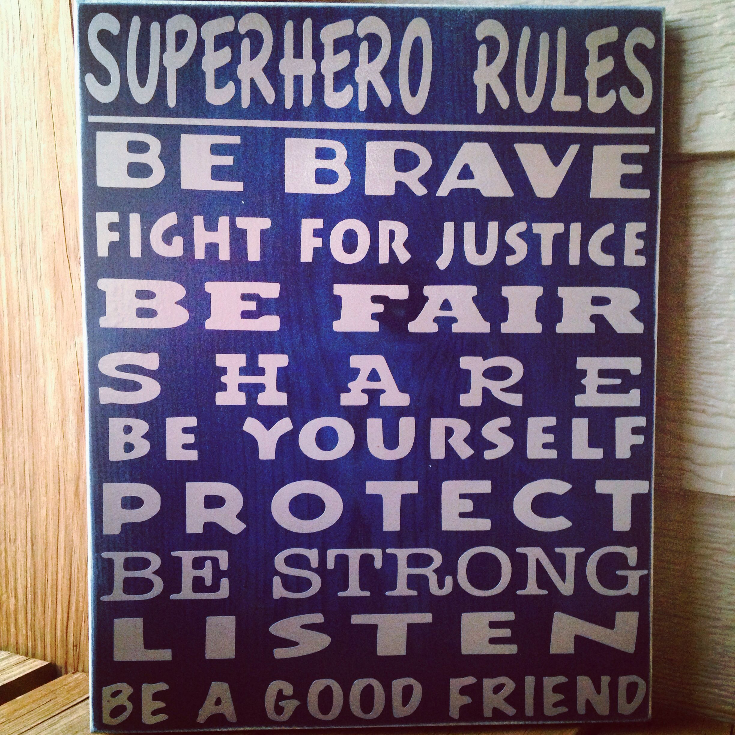 Superhero Rules