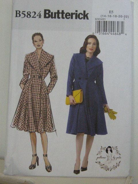 Coat Pattern Plus Size Retro Style Winter Coat Pattern Butterick