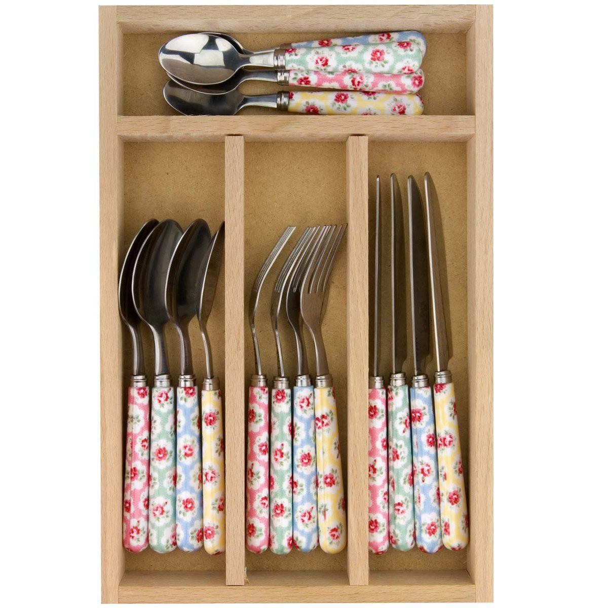 New Home | Provence Rose 16 Piece Cutlery Set | CathKidston  sc 1 st  Pinterest & New Home | Provence Rose 16 Piece Cutlery Set | CathKidston ...