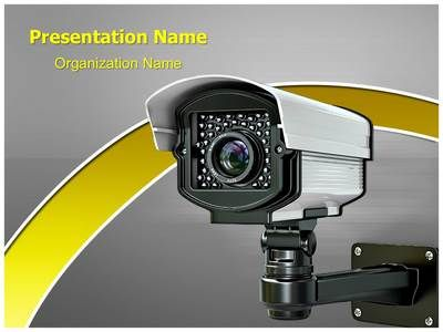 cctv security camera powerpoint template is one of the best, Presentation templates