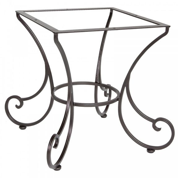 This Artisanal Wrought Iron Table Base Fits 42 54 Inch Round And