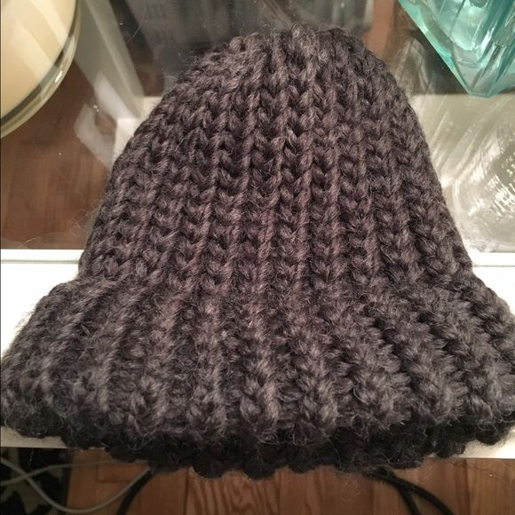 Newborn Loom Knit Grey Cap/ Photo Prop New and handmade. Grey loom knit cap for winter or for a newborn photo prop. Fits preemie to newborn, up to 7 pounds. Accessories Hats