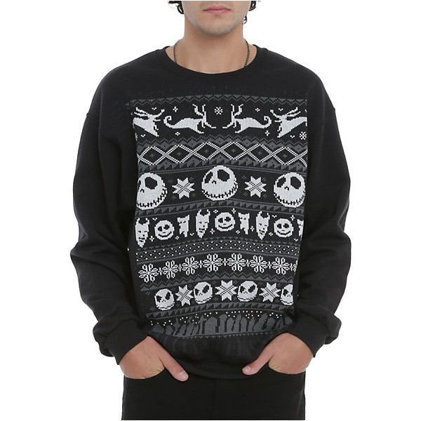 The Nightmare Before Christmas Fair Isle Crewneck Pullover | Hot ...