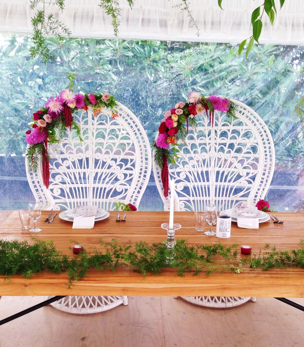 Decoration images for wedding  Gorgeous bride and groom seating by frankandjoy styling byronbay