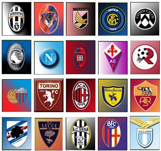 Italian Soccer Clubs Football Team Logos Soccer Logo Italian League