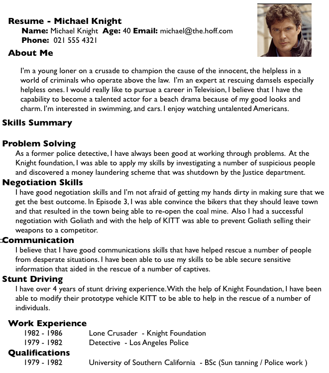 what not to do knight resume png 661 749 ad career pinterest