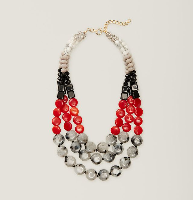 Red Multistrand Necklace | Loft