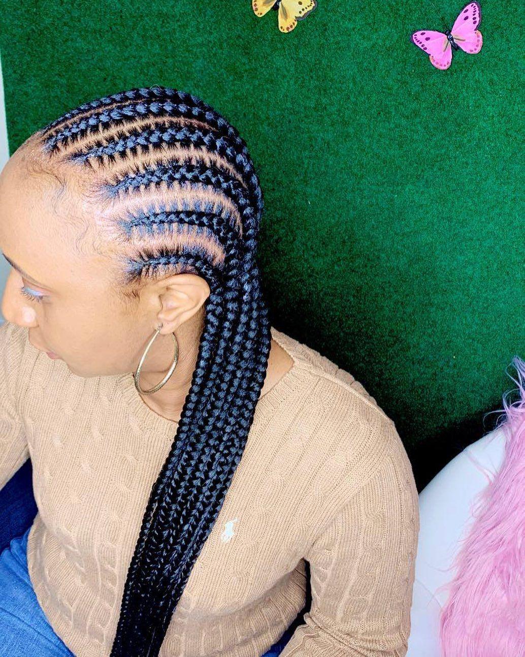 Erica Latrice On Instagram Book Under 10 12 Feed Ins Feedinbraids Feedinponytail Stit Feed In Ponytail Stitch Braids Natural Hair Styles