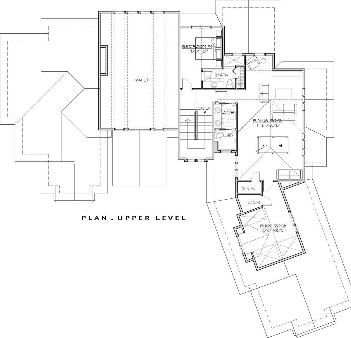 Mountain Rustic Plan: 4,412 Square