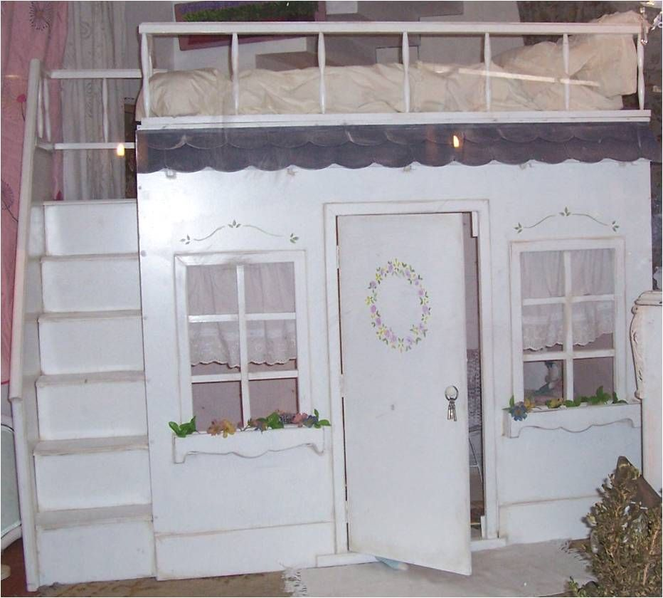 Cucheta de ni a con casita de juegos debajo camas 1 - Cama para nina ...