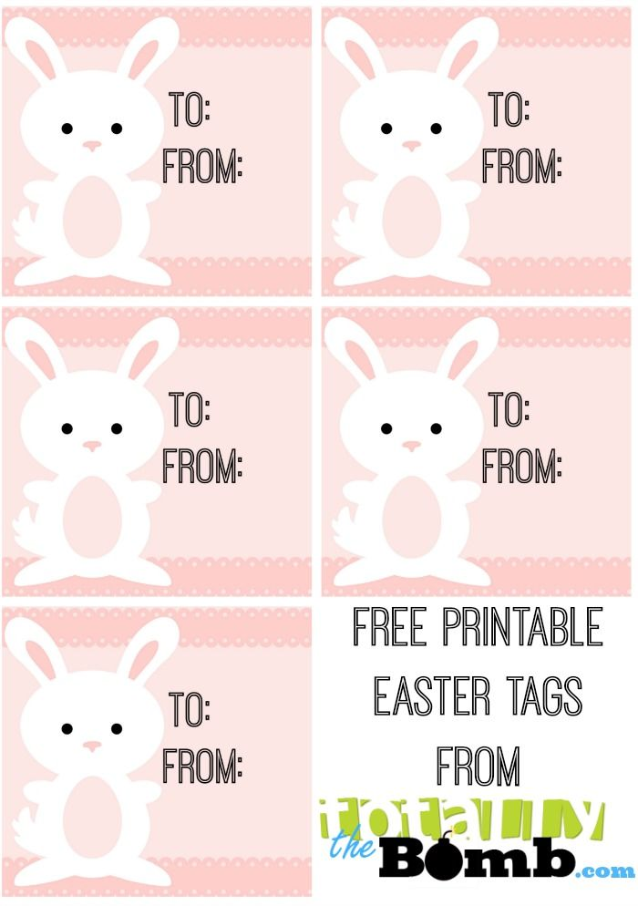 Make easter extra special with free printable easter tags free free printable easter tags these are totally adorable negle Images