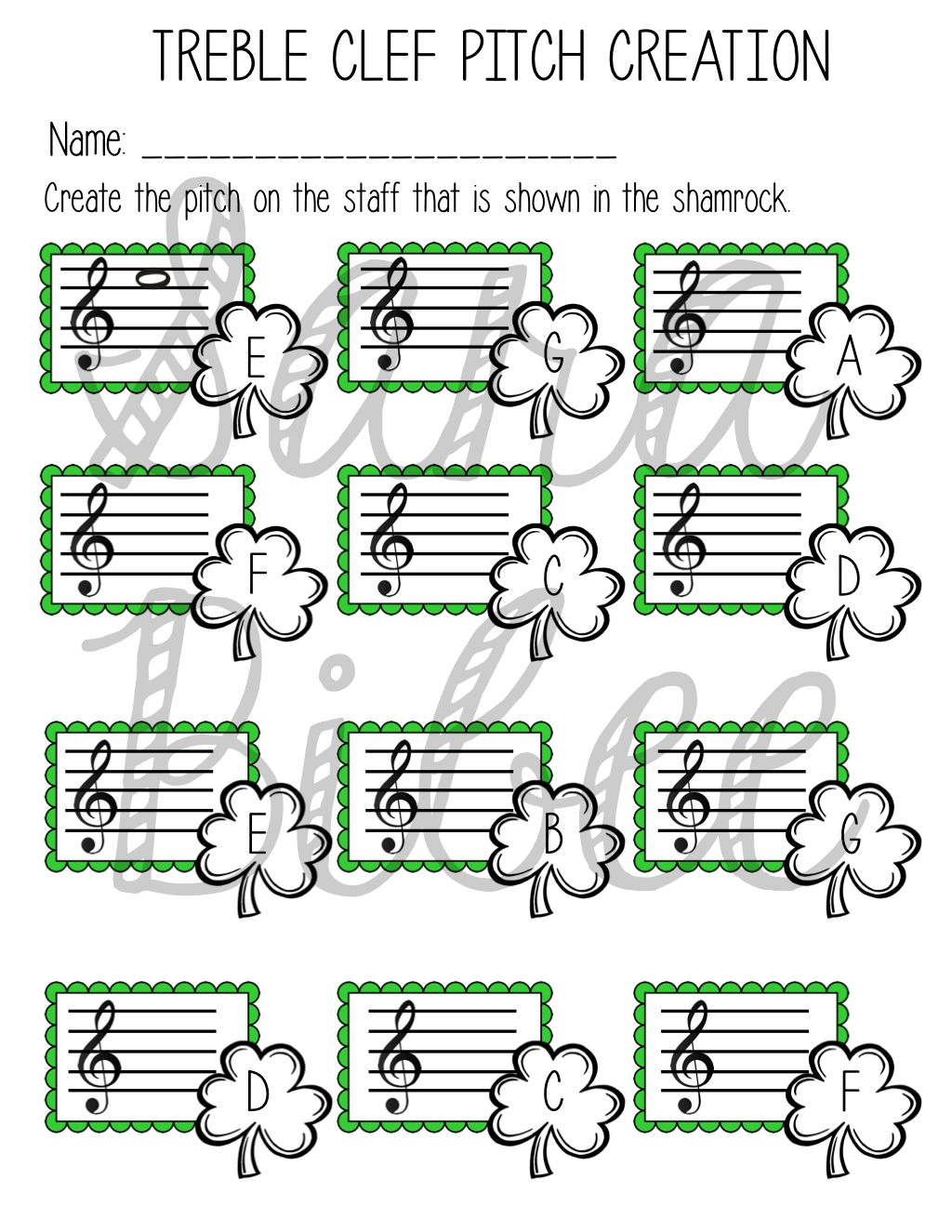 35 St Patrick S Day Activities And Worksheets For Music