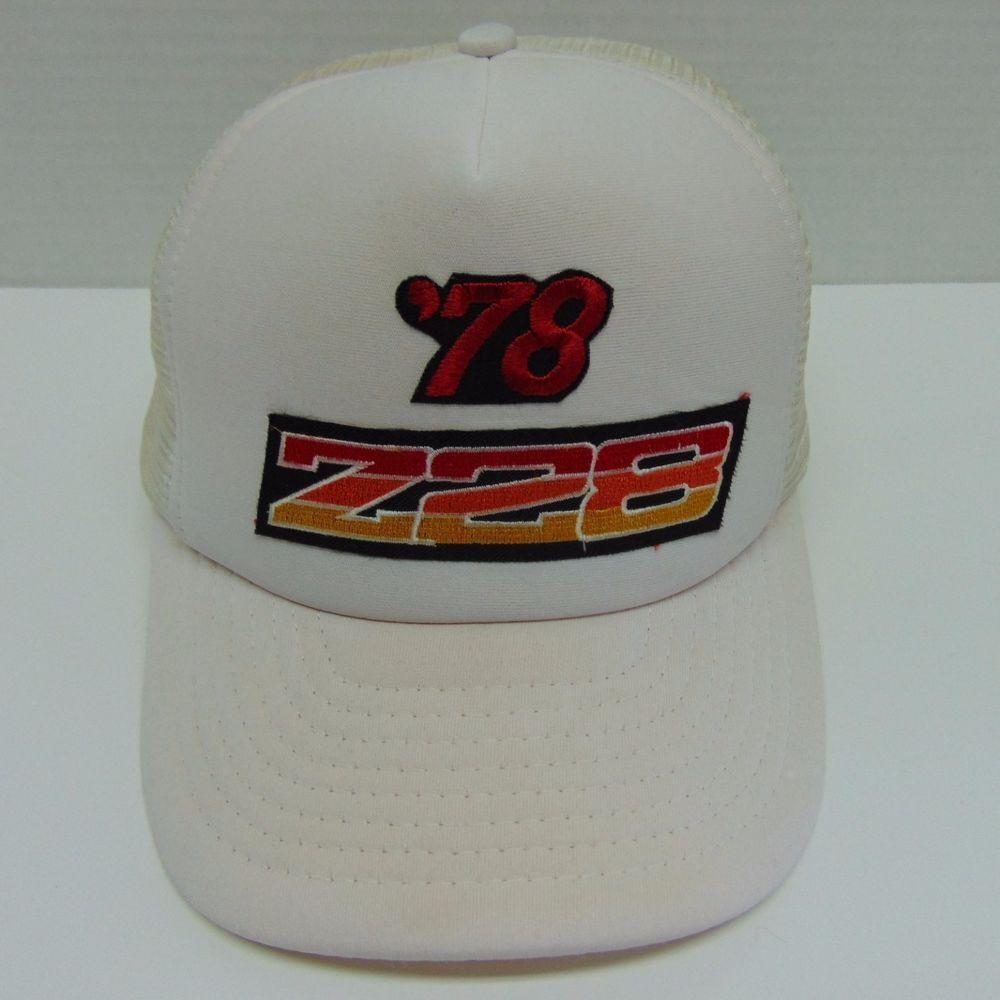Vtg Z28 Camero Snapback Trucker Hat Baseball Cap One Size Fits All 1970s   DesignerAwardHeadwear  TruckerHat 36963ac60d6