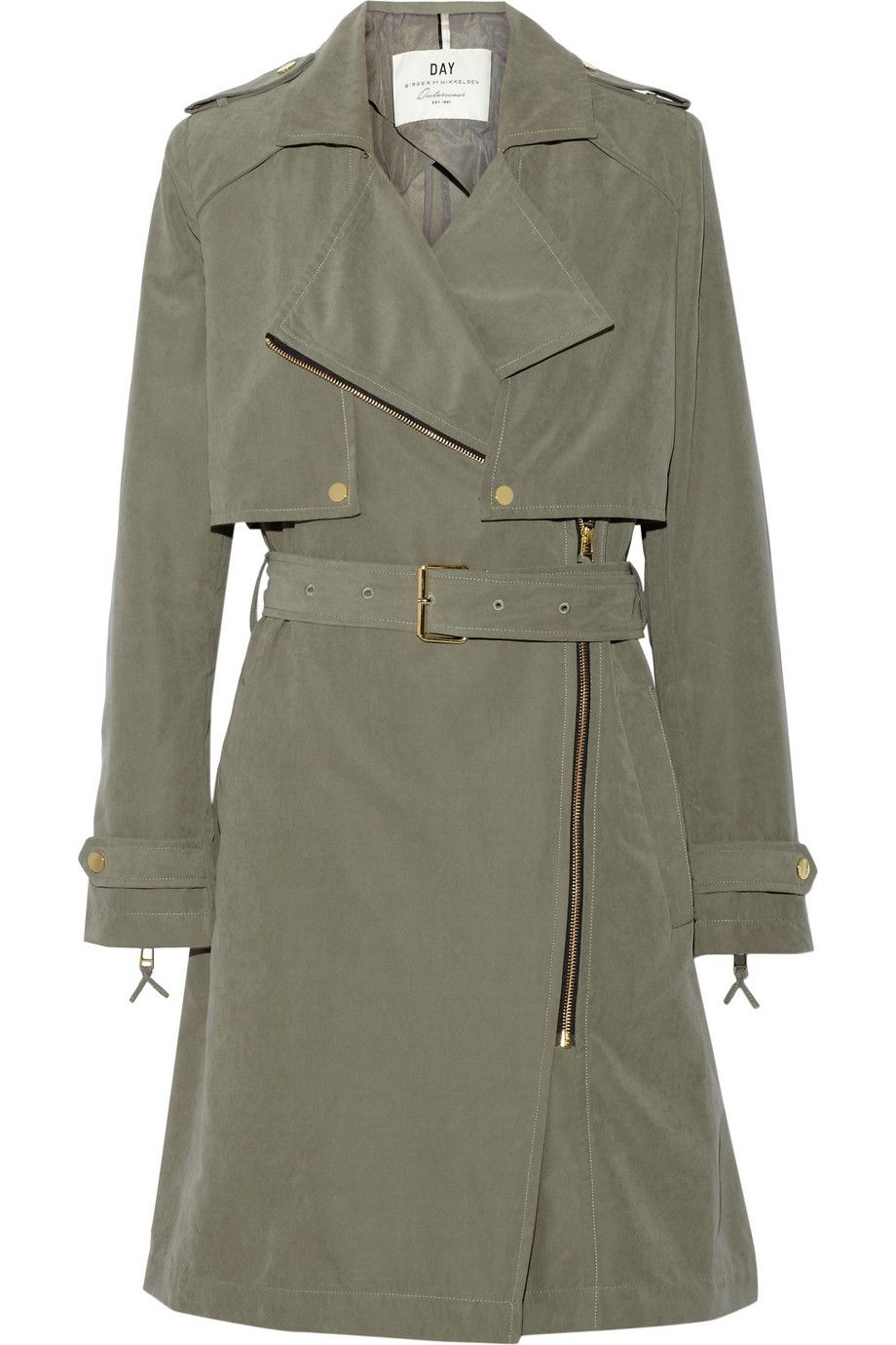 30e6eed6d17 DAY Birger et Mikkelsen | Day Go brushed-twill trench coat |  NET-A-PORTER.COM