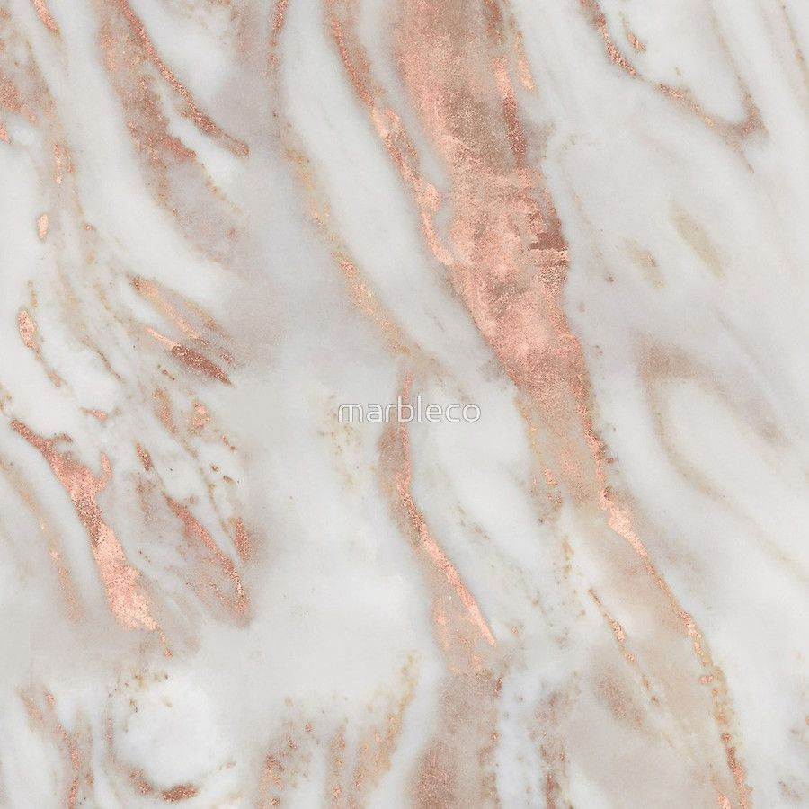 Civezza Rose Gold Marble Clock Rose Gold Marble Wallpaper
