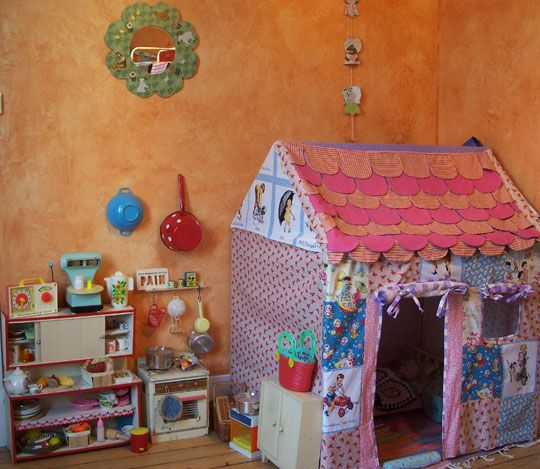 girls' playroom, kitchenette, fabric house