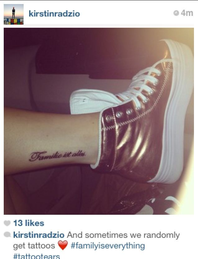 """Downloadable German Tattoo Sayings: """"Family Is Everything"""" In German #tattoo"""