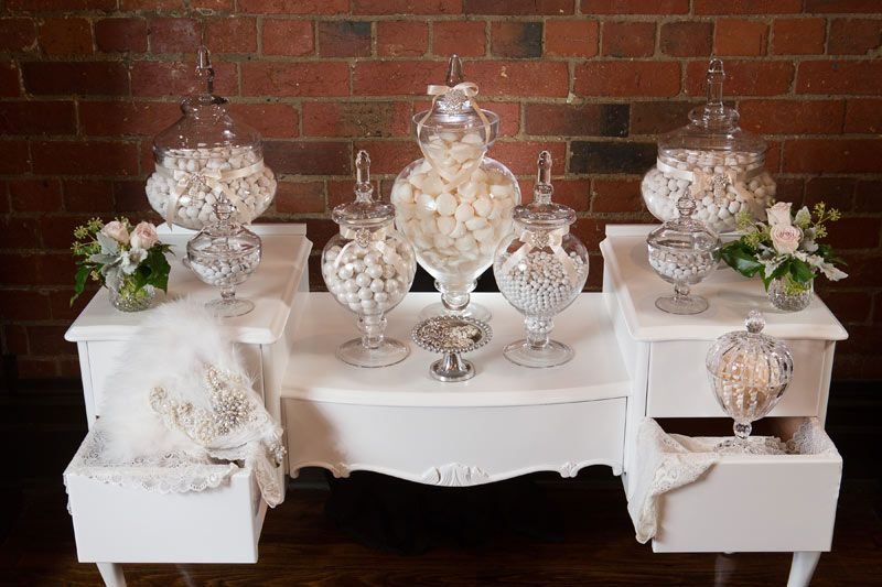 White / Cream / Ivory Candy U0026 Dessert Tables
