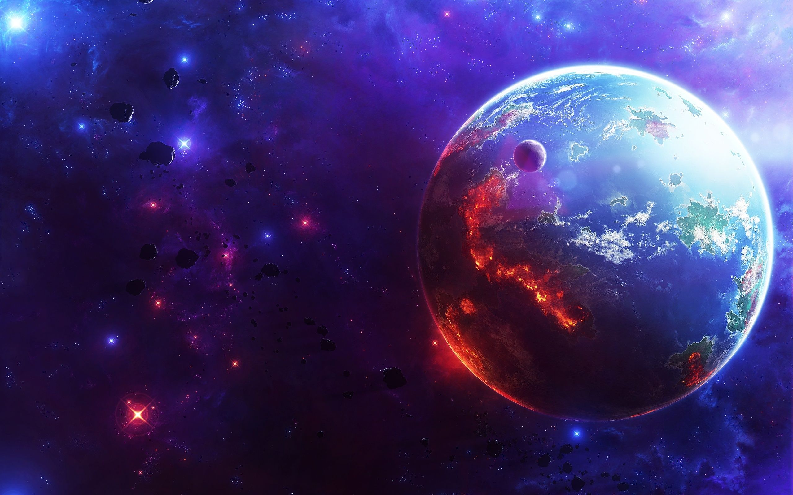 earth-3d-burning--wide 2,560×1,600 pixels   star wars party room