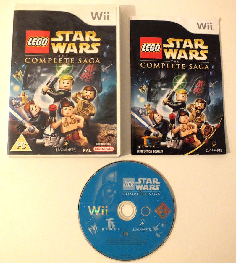 lego star wars the complete saga wii pal complete with manual rh pinterest com lego star wars wii guide lego star wars wii instruction manual