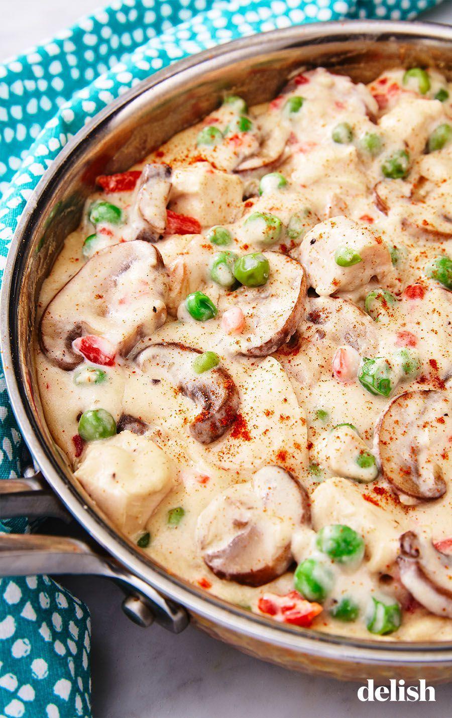 Chicken A La King Recipe Food Recipes Cooking Recipes