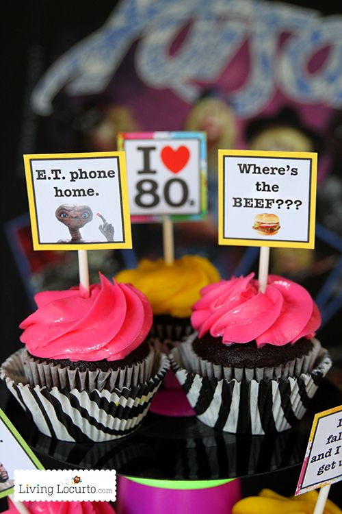 Totally Awesome 80s Neon Birthday Party Ideas and party printables