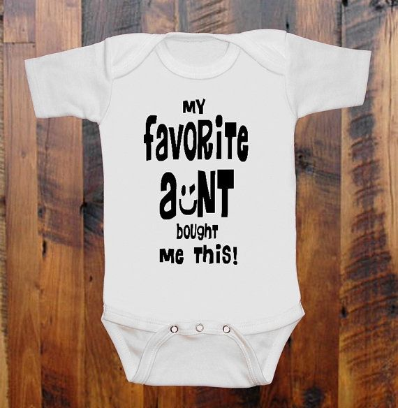 My aunt ant loves me funny BABYGROW BABY GROW  ALL SIZES Unisex  1 ^