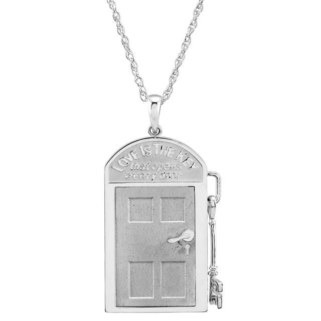 Love is the Key door necklace actually opens and closes with a tiny door handle with tiny key attached!  sc 1 st  Pinterest & Shop online today! Love is the Key door necklace actually opens and ...