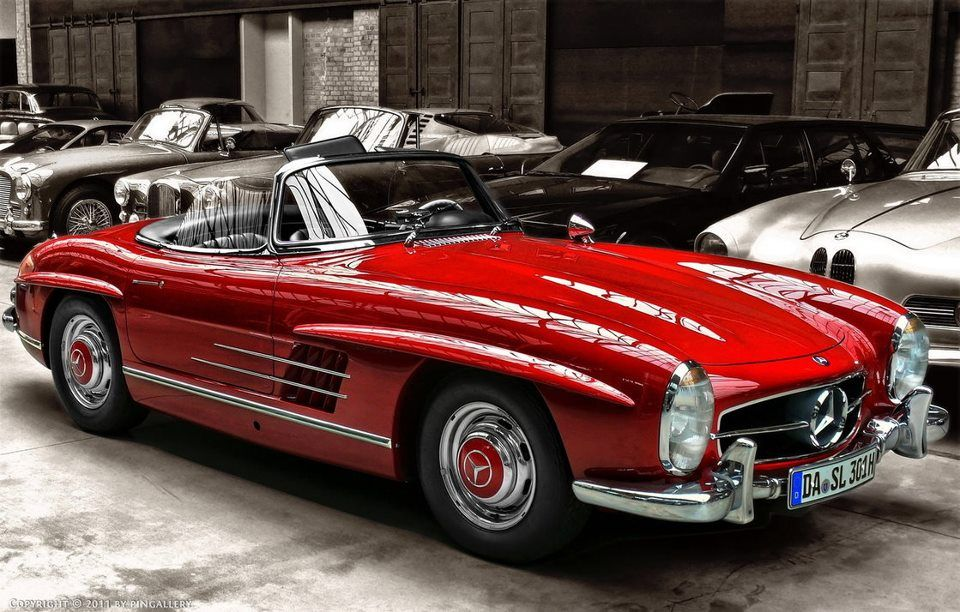 Red Mercedes With Images Classic Cars Mercedes Benz 300