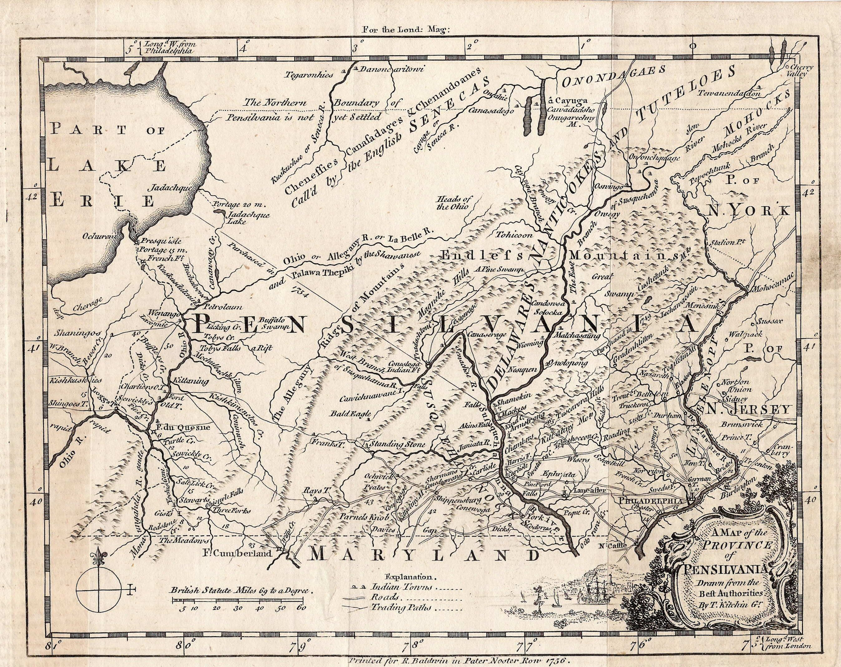 Pennsylvania Map French And Indian War