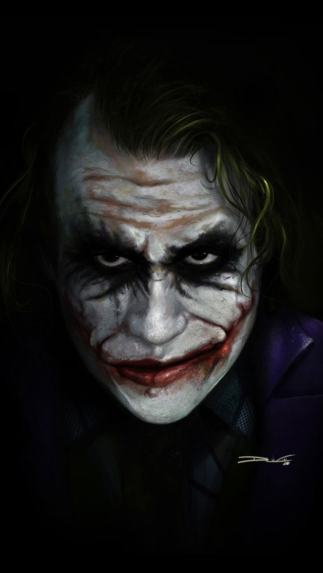My Iphone 5 Wallpaper The One I Just Liked Joker Face Joker Face Paint Joker Art