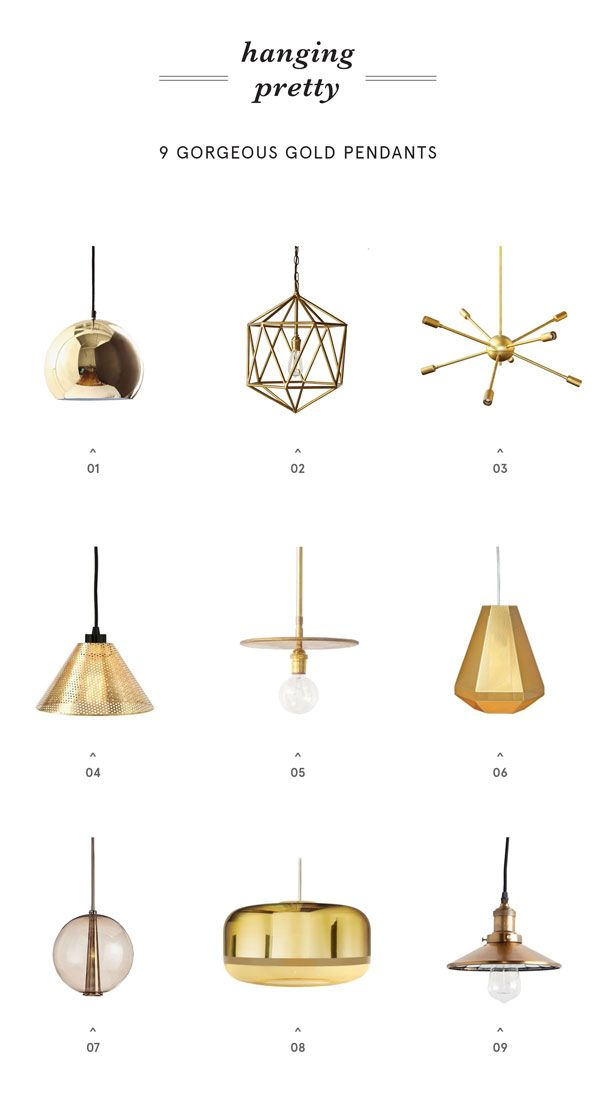 9 Gold Pendants To Light Up Your Life Apartment34 Gold Pendant Lighting Gold Pendant Pendant Light
