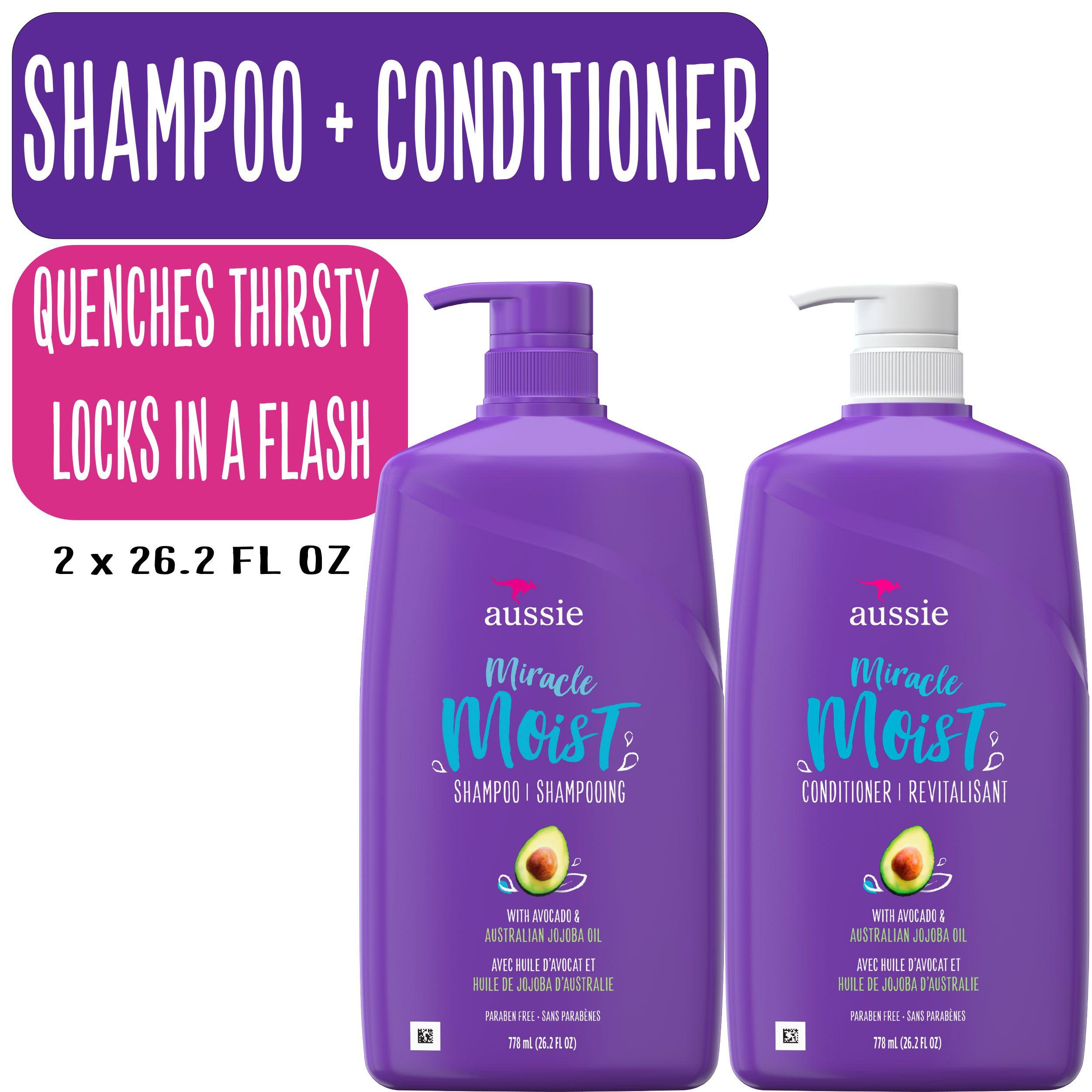 Aussie Miracle Moist Shampoo And Conditioner Hair Set 26 2 Fl Oz Walmart Com Aussie Miracle Moist Aussie Miracle Moist Shampoo Hair Conditioner
