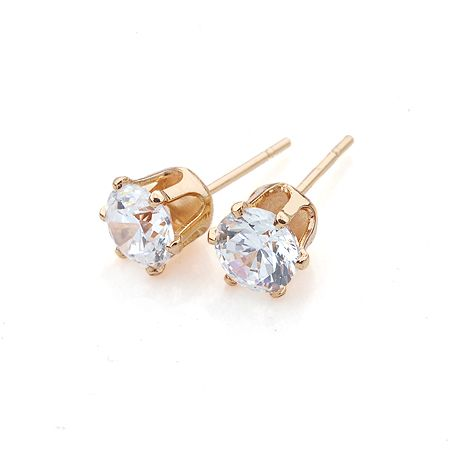 fd062656a Xuping Elegant Earring New Design Gold Color Plated Synthetic CZ Fashion  Jewelry Wedding Stud Earrings For