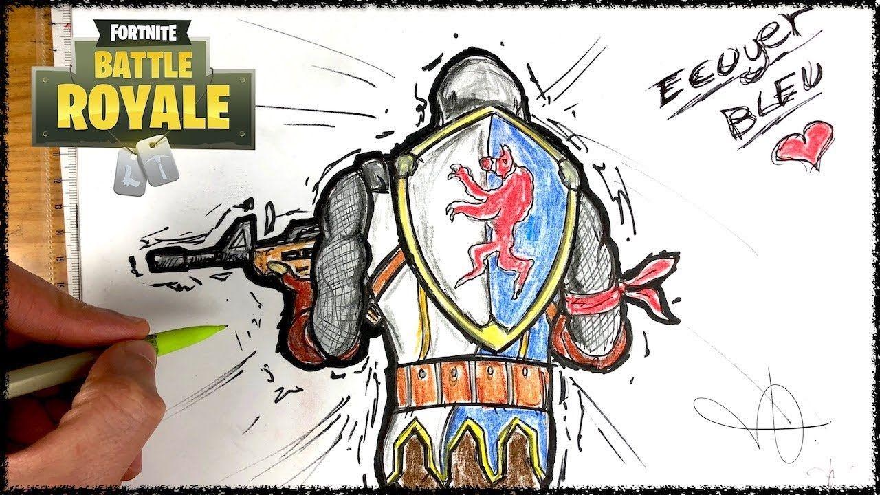 Draw Fortnite Blue Squire Fortnite