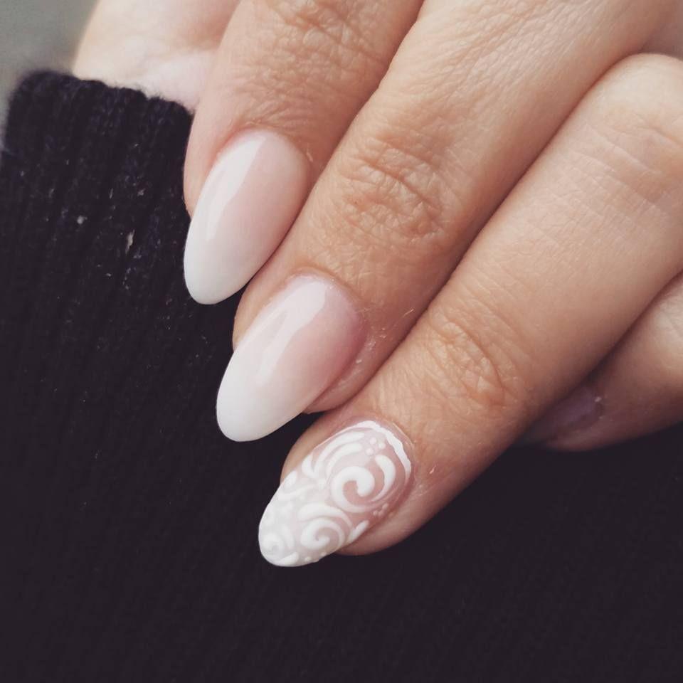 nails #longnails #babyboomer #3dnaildesign #almond #naildesign ...