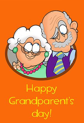 Caricature Grandparents Grandparents Day Card Free Greetings Island Grandparents Day Cards Happy Grandparents Day Grandparents Card