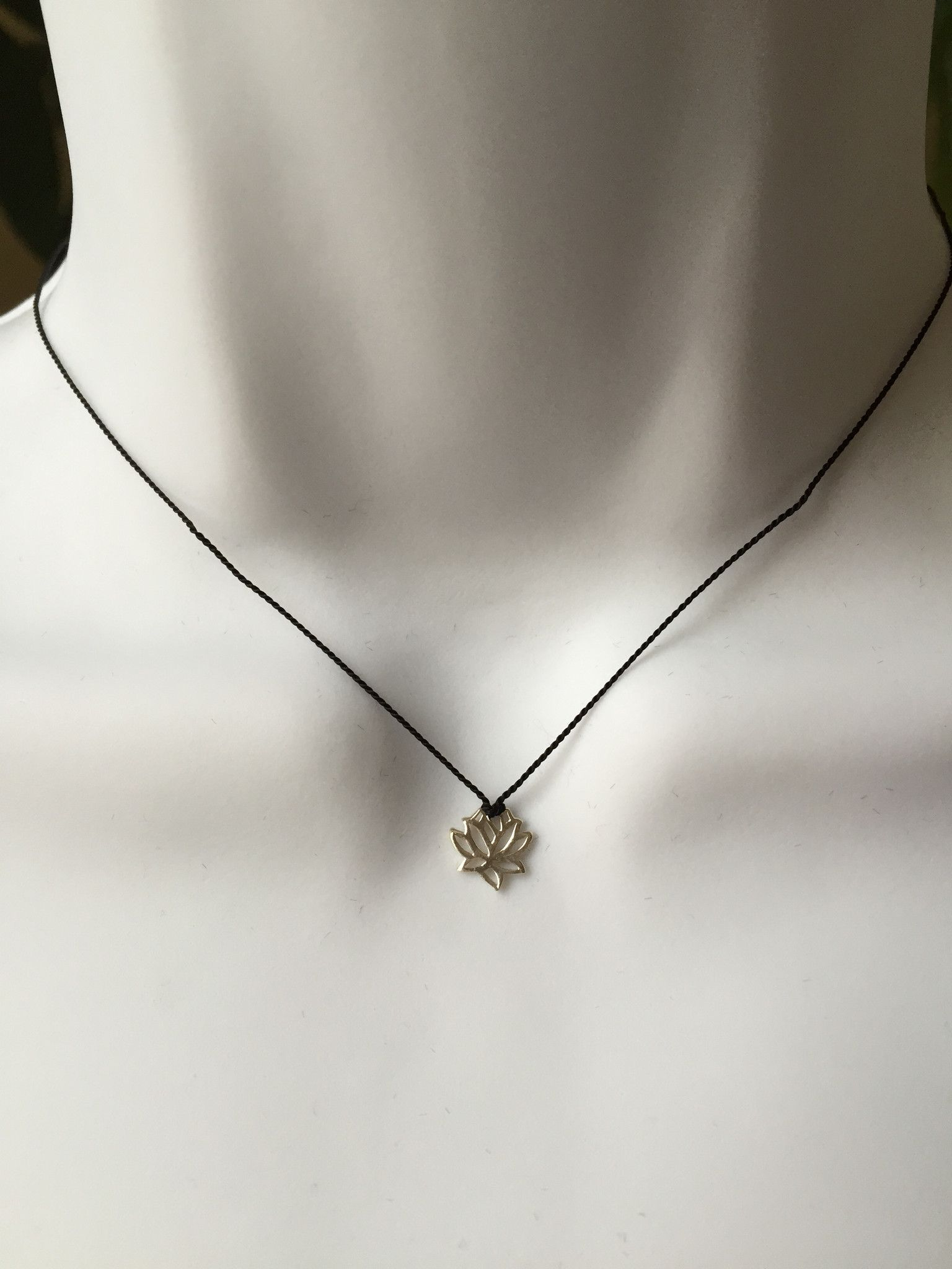 Lotus Flower Inspirational Sterling Silver Necklace