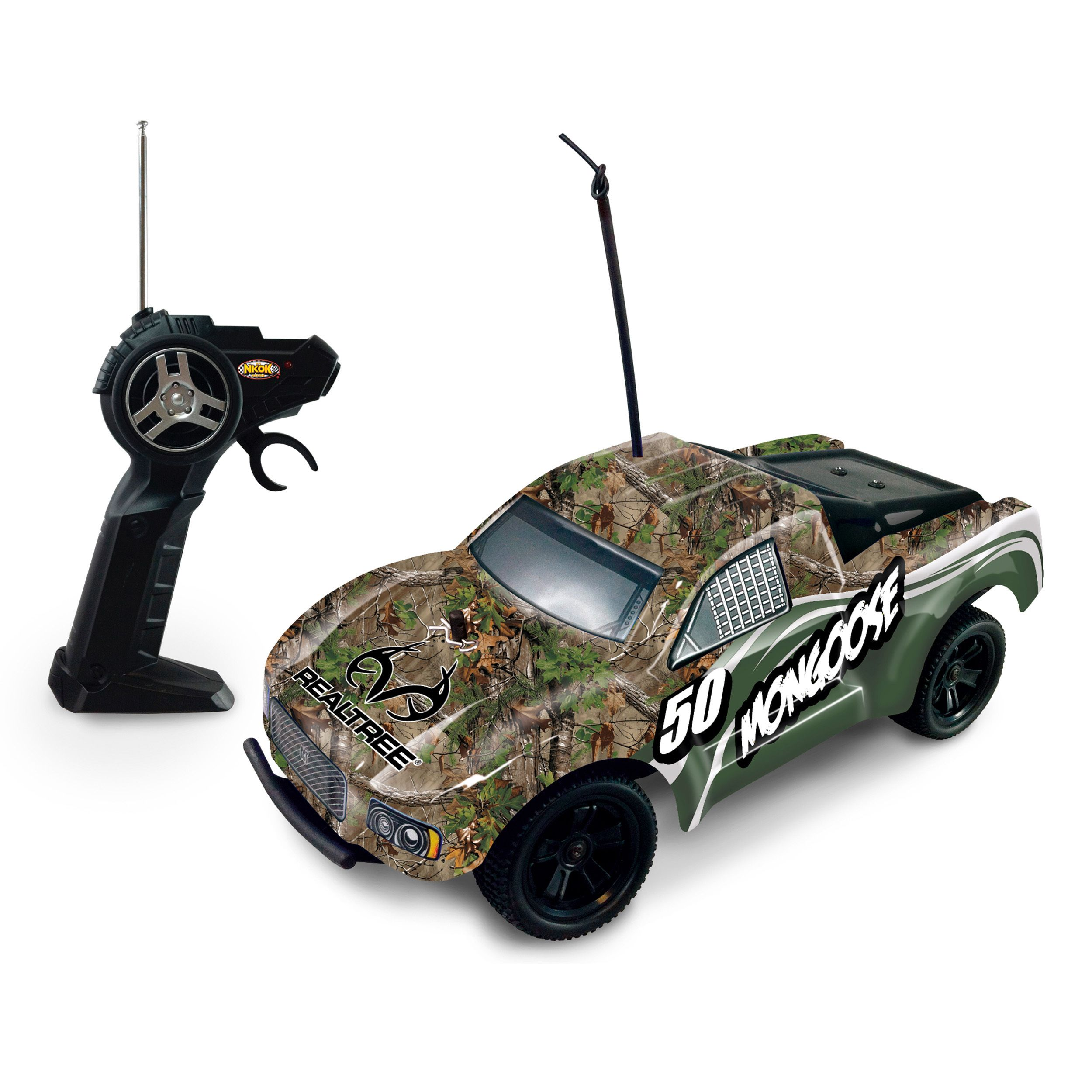 Nkok RealTree Camo Mongoose Remote Control Car RC Cars - Custom vinyl decals for rc carsimages of cars painted with flames true fire flames on rc car