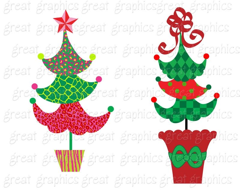 Christmas Tree Clipart Christmas Clip Art Digital